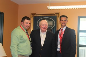 Alex Malm and Alex Powell with Marlin Fitzwater