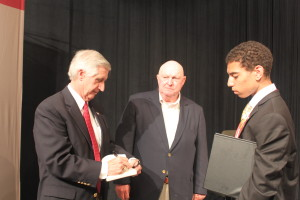 President Card and Marlin Fitzwater with Ronald Cooper